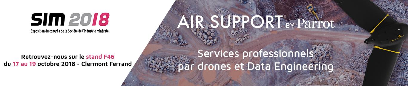 Parrot Air Support services par drones SIM 2018