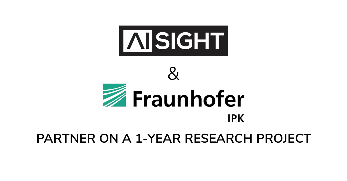 AiSight Partners With Fraunhofer IPK, Federal Ministry of Education and Research (BMBF) and German Aerospace Center (DLR).