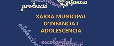 Cartell de la xarxa muncipal de l'infància i l'adolescència