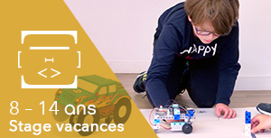 8 - 14 ans / Stage vacances Full Time : Robot Run (Course voiture)