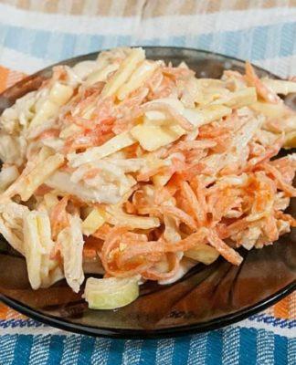 салат Белорусский с омлетом
