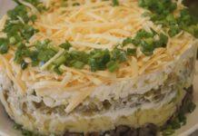 Салат «Грибы под шубой»