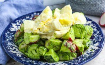 Салат с редисом и яйцом!