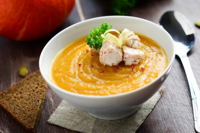 Рецепт очень вкусного тыквенного супа-пюре