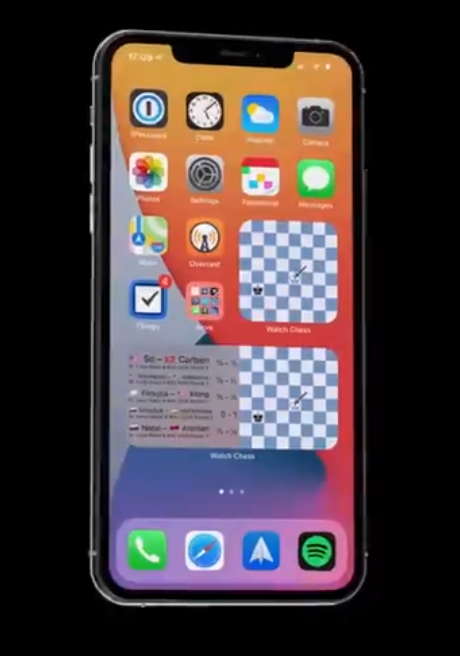 виджет для iOS Watch Chess