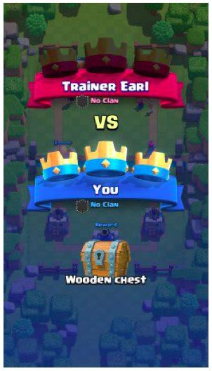 скриншот онбординга Clash Royale