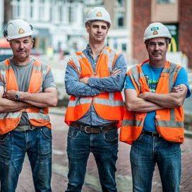 Onveiligheid wegwerkers samen wegwerken