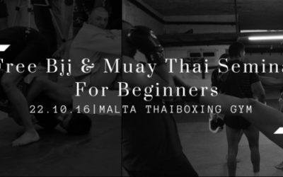 Free BJJ & Muay Thai Seminar for Beginners 22th of October