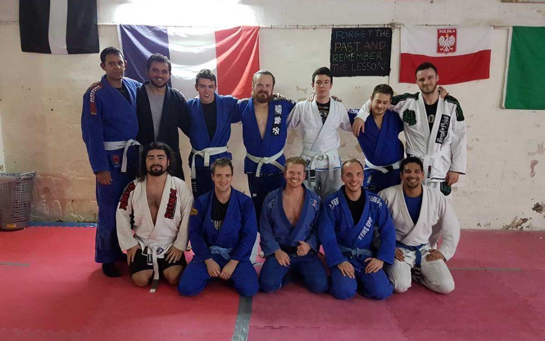 Andy Acuff visiting Arete BJJ Malta