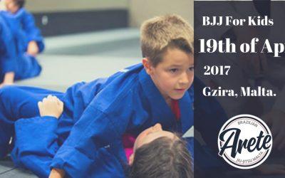 Brazilian Jiu-Jitsu program for Kids starting on 19th of April