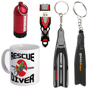 Category sidebar scuba gifts key rings usb mug