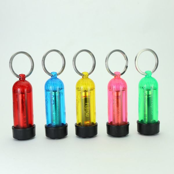 Mini Tank Key Ring with LED Light & O-Rings
