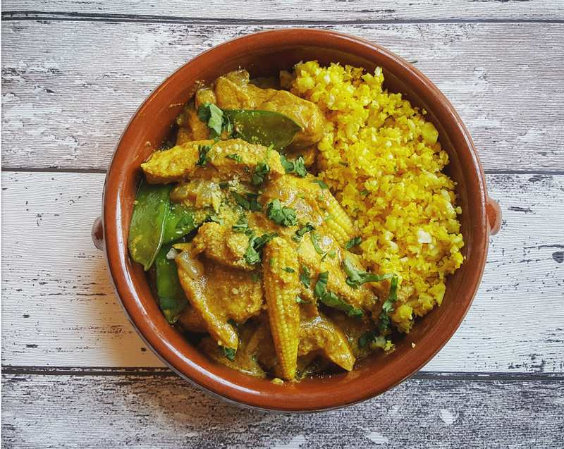 Healthy Coconut Chicken Curry And Cauliflower Rice Ultimate Performance