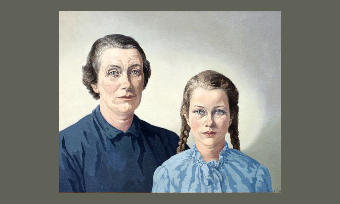portret van willemijn posthumus van der goot met haar dochter claire