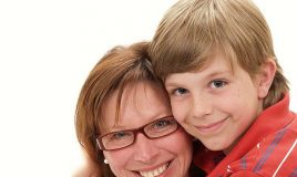 Luuk en zijn moeder