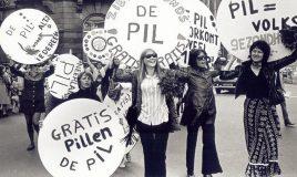 propaganda optocht dolle mina voor het gebruik van de anti-conceptie pil (1970)