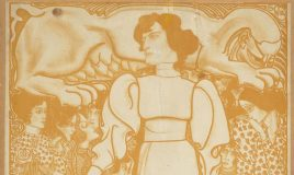 Affiche Jan Toorop vrouwenarbeid verbeeldt door een man