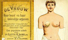 Uitvouwbaar boekje, ontwikkeld door Aletta Jacobs om haar vrouwelijke patiënten te informeren over het vrouwelijk lichaam (1899) Collectie IAV-Atria