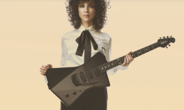 dame op gitaar
