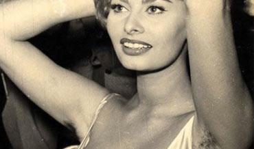 Sophia Loren okselhaar