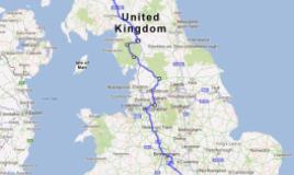 route fietstocht aletta jacobs in noord-engeland en schotland