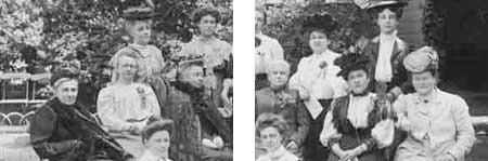 groepsportret vrouwenkiesrecht 1908