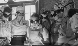 women in world war II are getting into vocational schools to learn war work 1942