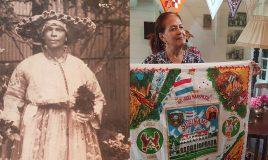 Christine van Russel-Henar 100 jaar emancipatie angisa doek