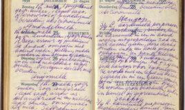 handgeschreven receptenboek met recept van hangop van karnemelk, copyright: Uitgeverij Artemis BV