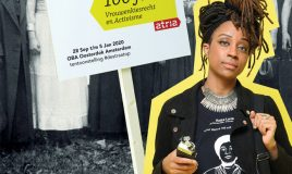clarice gargard een van de activisten van nu op tentoonstelling de straat op
