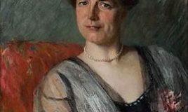 portret van Welmoet Wijnaendts Francken Dyserinck door Therese Schwartze (1914) Collectie Atria