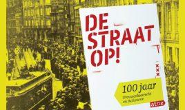 gedeelte van foto van demonstranten op het rokin in amsterdam tijdens de demonstratie op 18 juni 1916