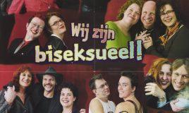 poster voor ledenwerving met tekst wij zijn biseksueel! Jij ook?