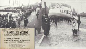 Betoging Vrouwenkiesrecht Schagen 15 februari 1914 Paleis van Volksvlijt