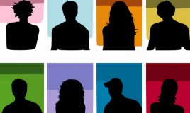 silhouetten diverse personas