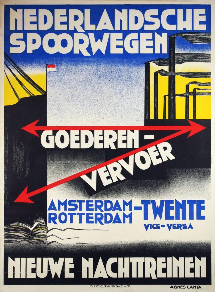 Affiche NS-goederenvervoer Agnes Canta