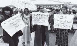 protest tegen milieuvervuiling op wereldvrouwenconferentie in beijing in 1995 klimaatverandering