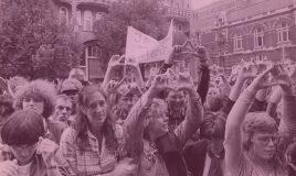 eerste homodemonstratie in amsterdam in 1977