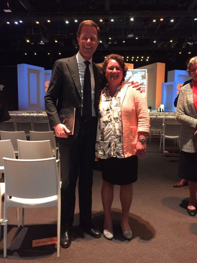 Mark Rutte en Lilian Janse
