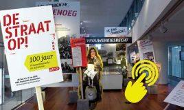 interactieve tentoonstelling over 100 jaar vrouwenkiesrecht en activisme