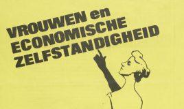 gedeelte van affiche met aankondiging van bijeenkomst in tegelen in het kader van de internationale vrouwendag in de jaren 80