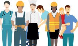 werkende en zorgende mannen en vrouwen omslagbeeld literatuurstudie genderstereotypen