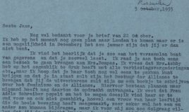 brief van rosa manus aan Jane de Iongh
