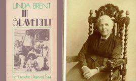 omslag boek in slavernij en portret van schrijfster harriet jacobs