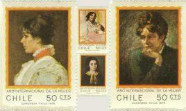 postzegels uit chili tgv jaar van de vrouw