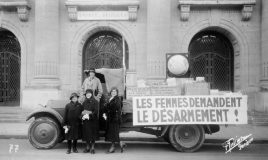 lorry with signed petitions for peace 1932