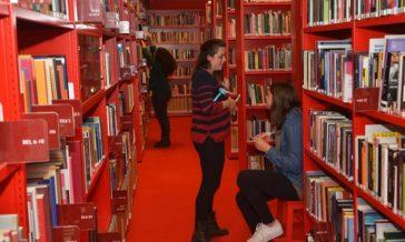 books in library atria