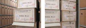 Russian archive boxes Aletta Jacobs Atria - IAV, Amsterdam