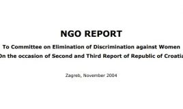 NGO report Croatia