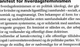Manifest for hverdagsfeminismen